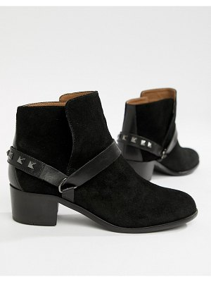H by Hudson leather ankle boots-black