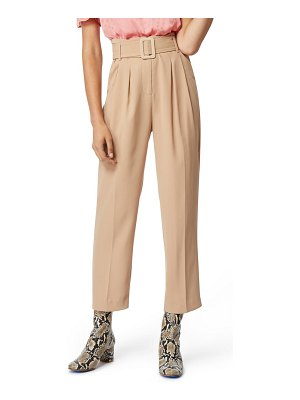 Habitual payton belted high waist ankle trousers