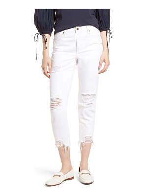Habitual vale distressed slant fray cuff jeans