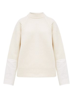 Haider Ackermann banded canvas cuff ribbed wool sweater