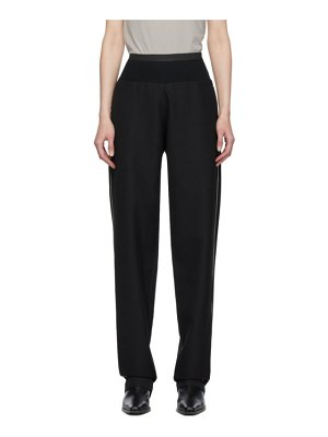 Haider Ackermann black elastic waist trousers
