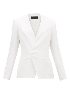 Haider Ackermann collarless single-breasted twill blazer