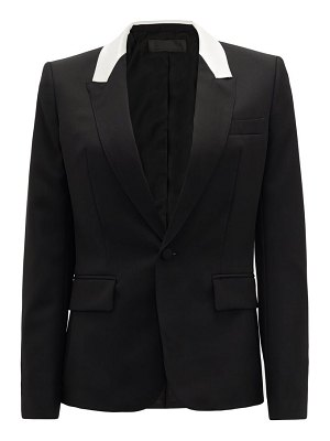 Haider Ackermann contrast-panel single-breasted wool jacket