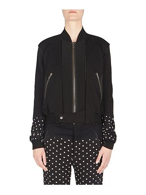 Haider Ackermann cotton jersey bomber jacket