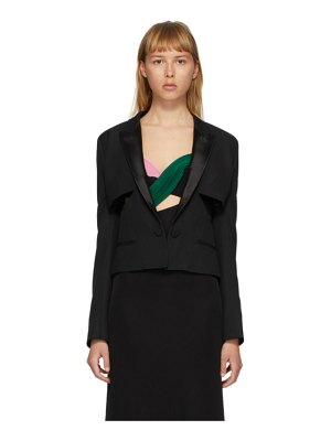 Haider Ackermann cut-out tuxedo jacket