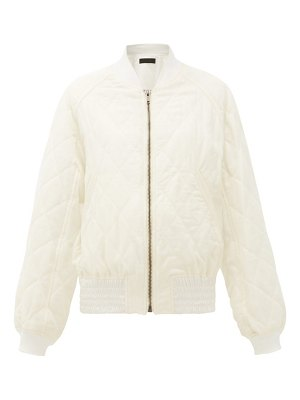 Haider Ackermann diamond-quilted wool-twill bomber jacket