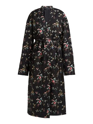 Haider Ackermann Freesia Floral Print Quilted Single Breasted Coat