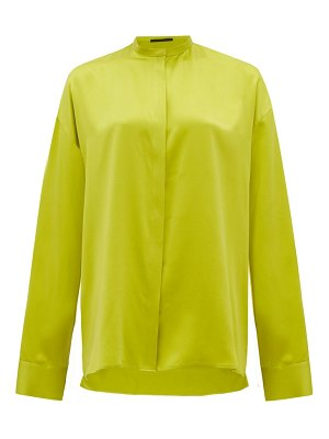 Haider Ackermann mandarin-collar silk-satin blouse
