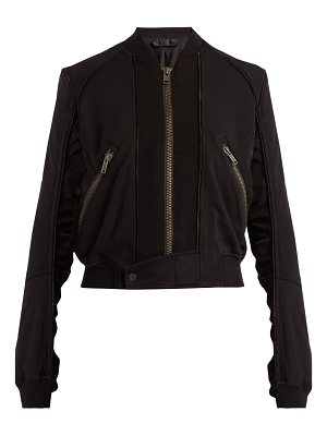 Haider Ackermann Piping-detailed zip-through cotton jacket