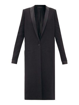 Haider Ackermann proud single-breasted shawl-lapel wool coat
