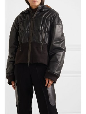 Haider Ackermann ruched leather and cotton-blend jacket