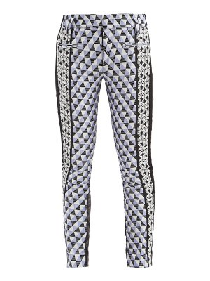 Haider Ackermann triangle-check jacquard and leather trousers