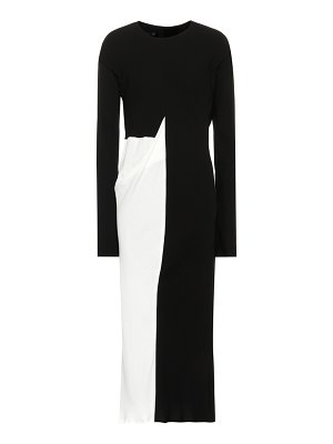 Haider Ackermann two-tone midi dress