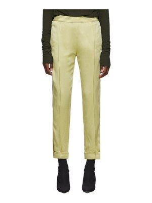 Haider Ackermann yellow kuiper elastic waistband trousers