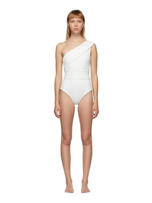 HAIGHT off-white crepe maria one-piece swimsuit