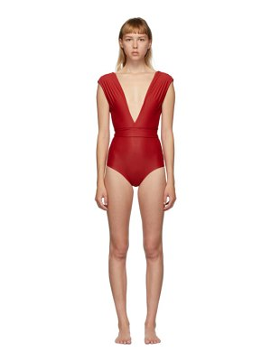 HAIGHT red roge one-piece swimsuit