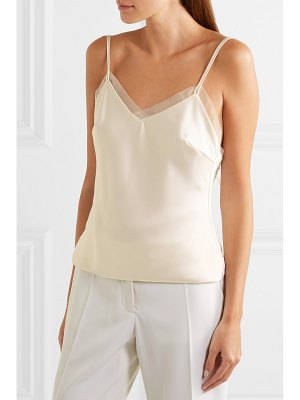 Halfpenny London lenny organza-trimmed satin camisole - off-white