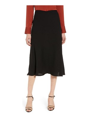 Halogen halogen bias cut a-line skirt