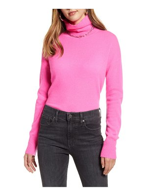 Halogen halogen cashmere turtleneck sweater