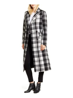 Halogen halogen double breasted check coat