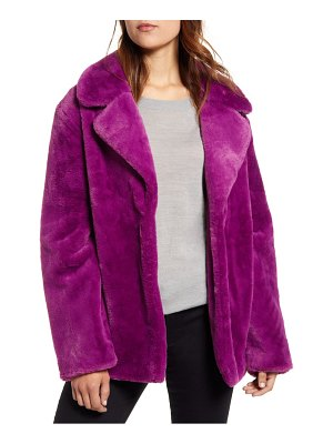 Halogen halogen faux fur coat