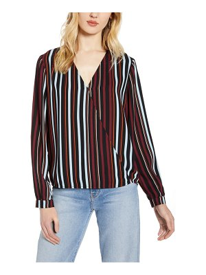Halogen halogen faux wrap blouse