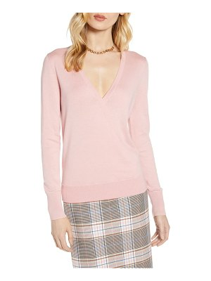 Halogen halogen faux wrap sweater