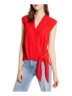 Halogen halogen faux wrap top