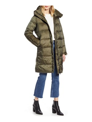 Halogen halogen hooded puffer jacket with removable hood