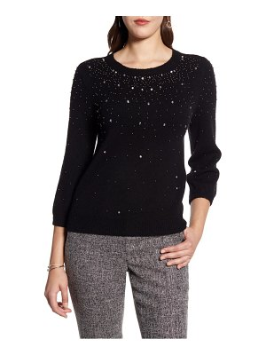 Halogen halogen jeweled sweater