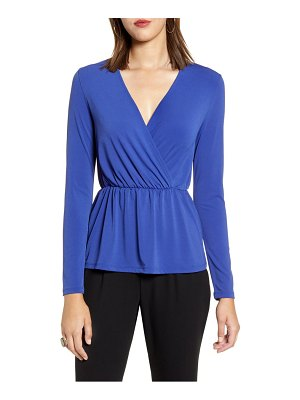 Halogen halogen knit surplice top