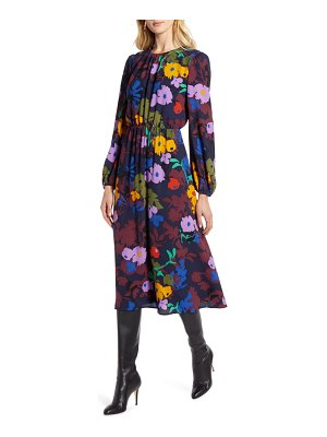 Halogen halogen long sleeve midi dress