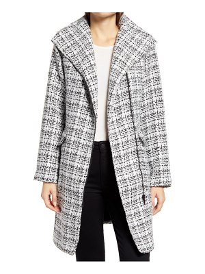 Halogen halogen moto tweed coat