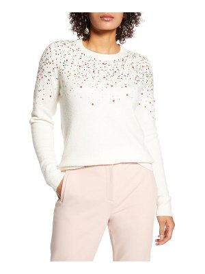 Halogen halogen multicolor sequin sweater