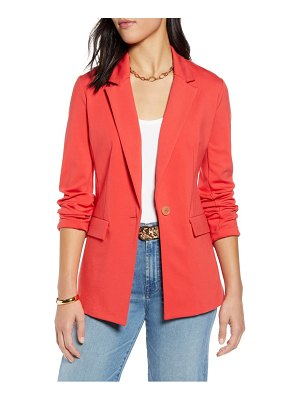 Halogen halogen one-button ponte jacket