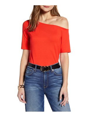 Halogen halogen one-shoulder knit top