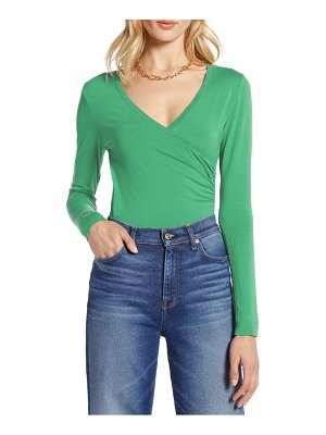 Halogen halogen surplice knit top
