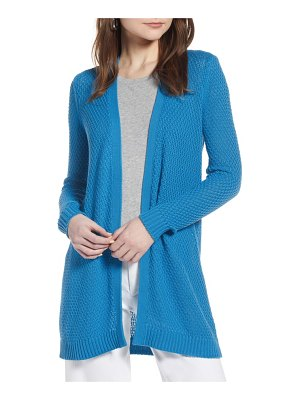 Halogen halogen textured cotton knit cardigan