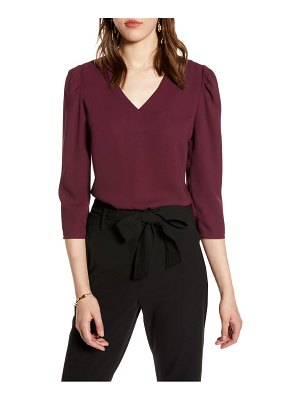 Halogen halogen v-neck blouse