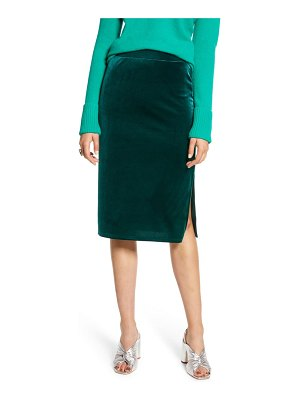 Halogen halogen velvet pencil skirt