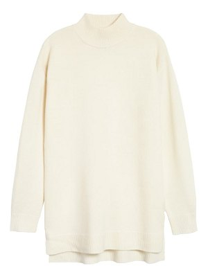Halogen halogen wool & cashmere turtleneck sweater