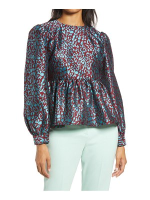 Halogen halogen x atlantic-pacific leopard jacquard top