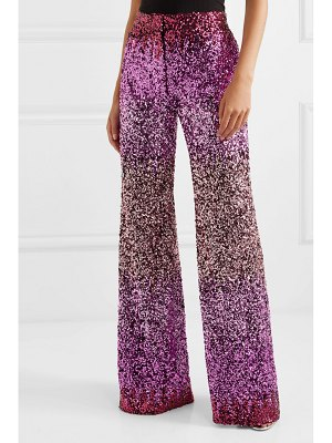 HALPERN dégradé sequined tulle flared pants