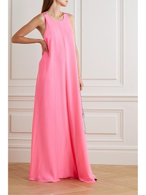 HALPERN neon georgette maxi dress