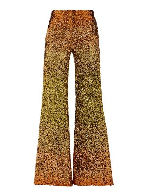 HALPERN ombré sequinned wide-leg trousers