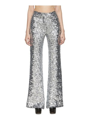 HALPERN sequin stovepipe trousers