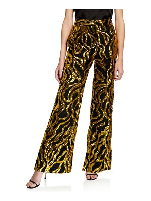 HALPERN Sequined Stovepipe Trousers