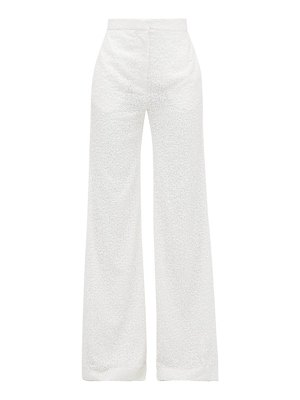 HALPERN sequinned wide-leg trousers