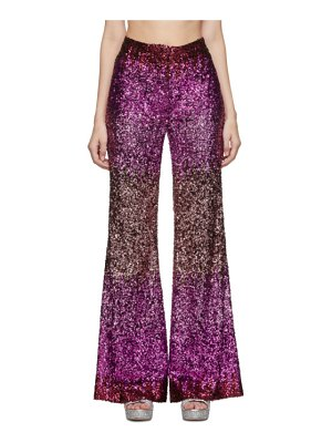 HALPERN ssense exclusive  sequin stovepipe trousers