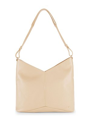 Halston Chevron Leather Tote Bag